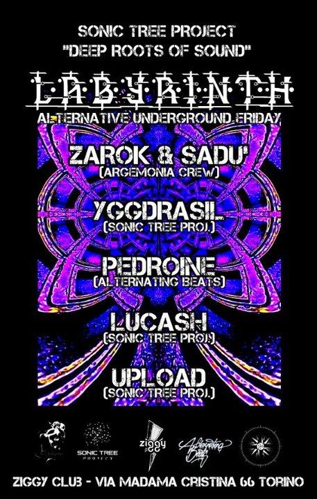 Party Flyer LABYRINTH // Alternative Underground Friday // Ziggy Club (TURIN) 29 Mar '19, 22:00