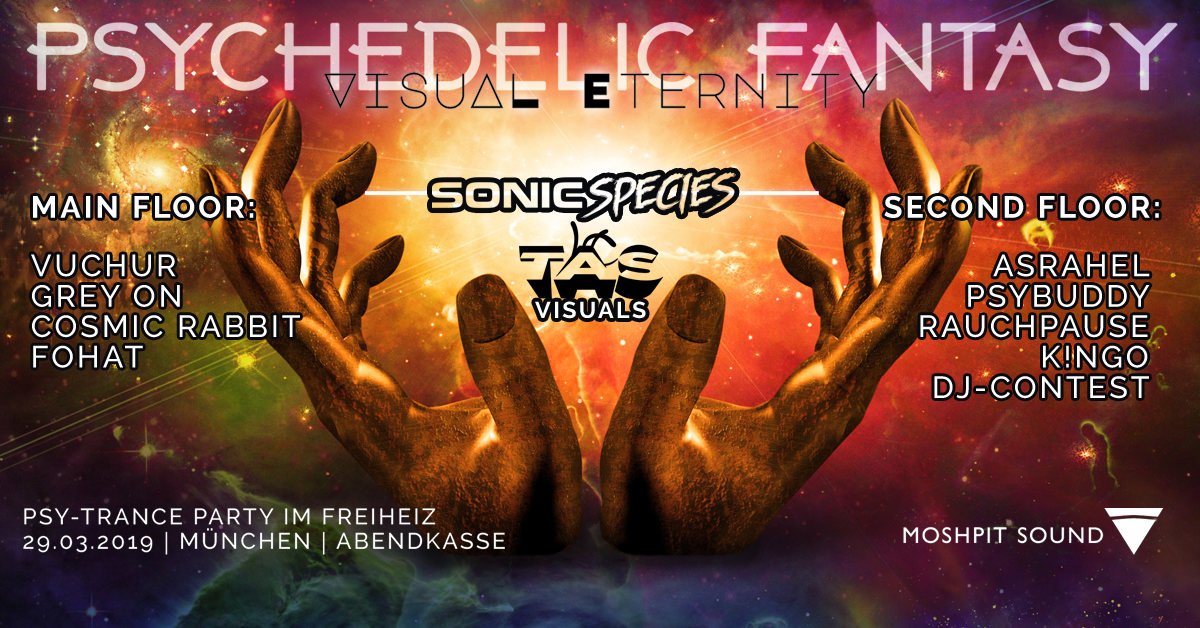 Party Flyer Psychedelic Fantasy Visual Eternity 29 Mar '19, 22:30