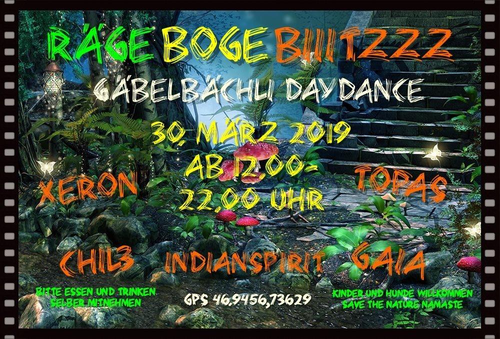 Party Flyer Gäbelbächli DayDance 30 Mar '19, 12:00