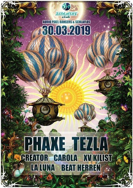Party Flyer Phaxe Live Audio Pixel Bangers & Schlaflos 30 Mar '19, 22:00