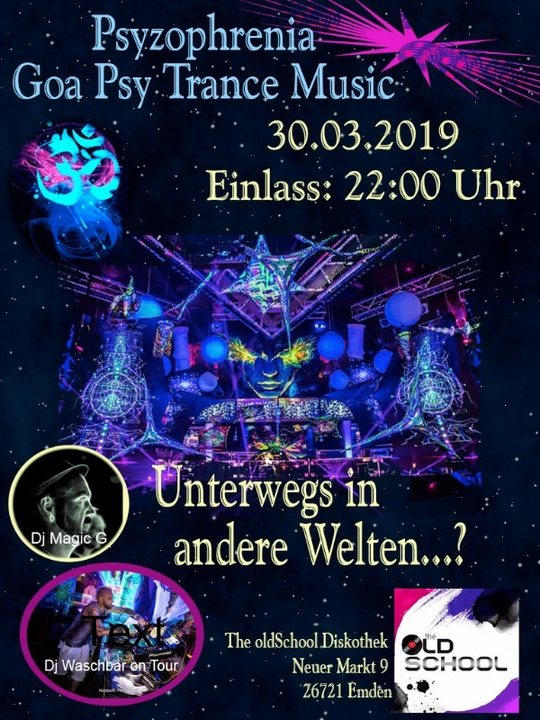 "Party Flyer Psyzophrenia"" Goa Psychedelic Trance Music 30 Mar '19, 22:00"