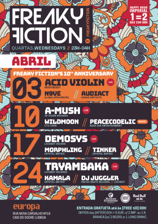 Party Flyer FREAKY FICTION'S 10th ANNIVERSARY 3 Apr '19, 23:00