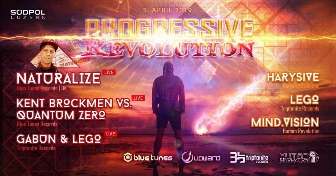 Party Flyer Progressive Revolution w/ Naturalize 5 Apr '19, 23:00
