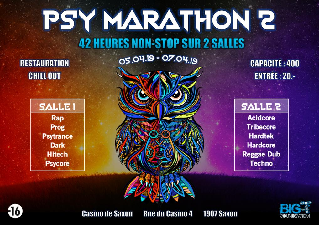 Party Flyer Psy Marathon 2 5 Apr '19, 12:00