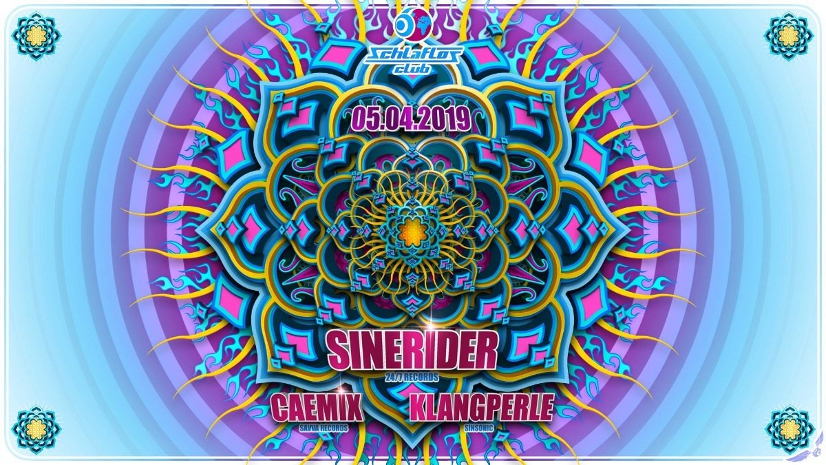 Party Flyer Sinerider at Schlaflos 5 Apr '19, 23:00