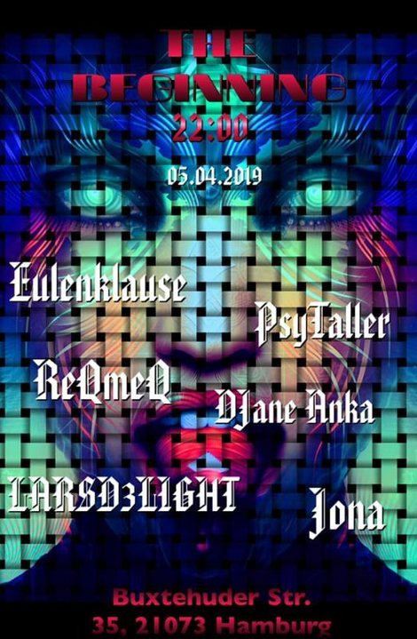 Party Flyer THE BEGINNING Eulenklause und Jona Live 5 Apr '19, 22:00