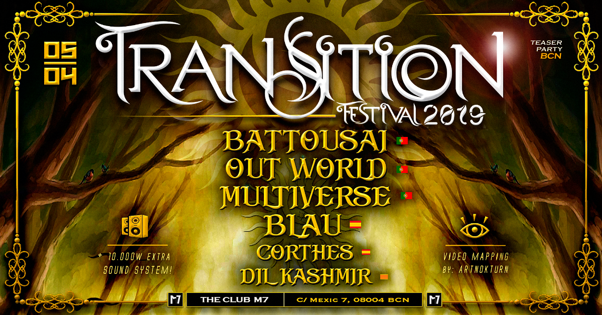 Party Flyer Transition Festival teaser Party in Barcelona 5 Apr '19, 23:30