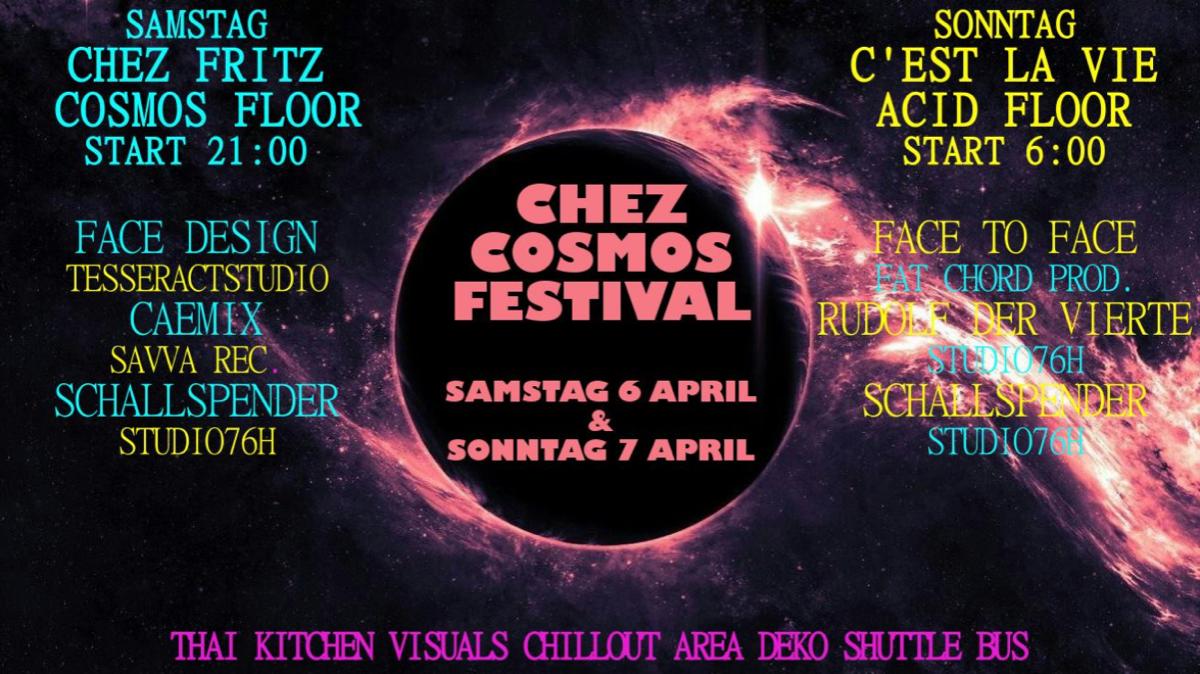 Party Flyer Chez Cosmos Festival 6 Apr '19, 22:00