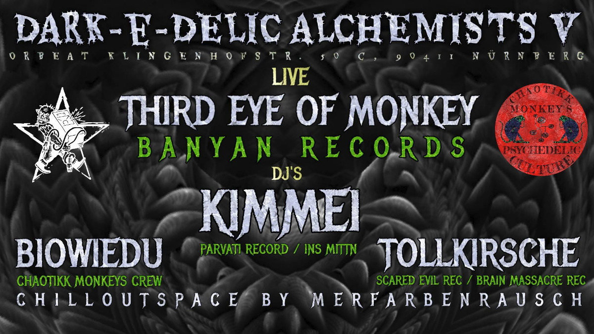 Party Flyer Dark-e-Delic Alchemists V The Last Round 6 Apr '19, 22:00