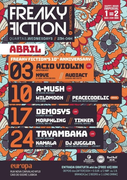 Party Flyer FREAKY FICTION 10 Apr '19, 23:00