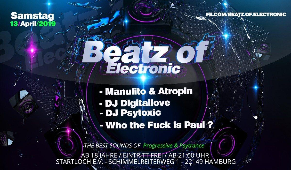 Party Flyer Beatz of Electronic 13 Apr '19, 21:00