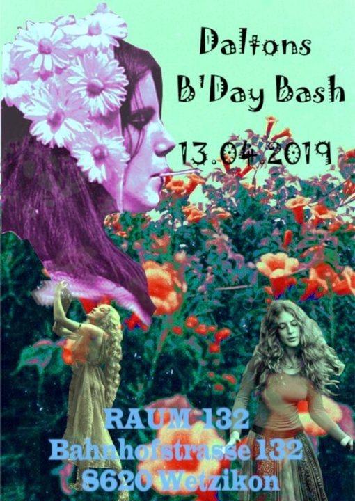 Party Flyer Daltons B'Day Bash 13 Apr '19, 22:00