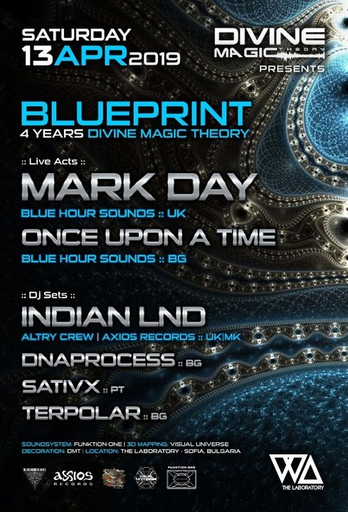 Party Flyer Divine Magic Theory: BLUEPRINT 13 Apr '19, 23:00