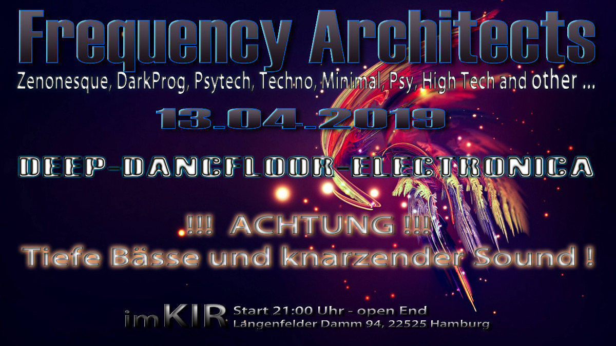 Party Flyer Frequency Architects 13 Apr '19, 22:00