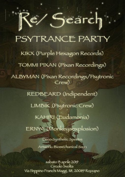 Party Flyer Re / Search - Psytronic Psytrance Party 13 Apr '19, 23:00