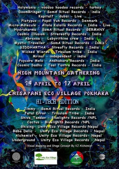 Party Flyer High Mountain Gathering Vol-II 14 Apr '19, 10:30