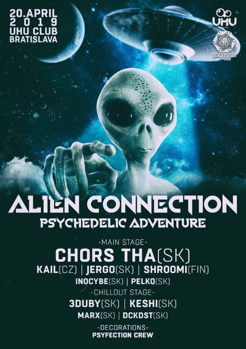Party Flyer ALIEN CONNECTION (PSYCHEDELIC ADVENTURE) 20 Apr '19, 21:00