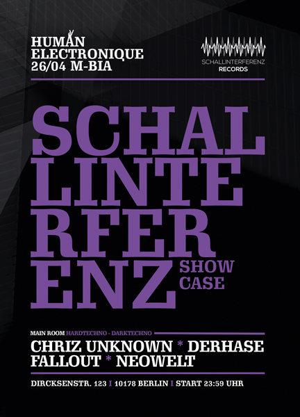 Party Flyer Human Electronique meets Schallinterferenz 26 Apr '19, 23:30