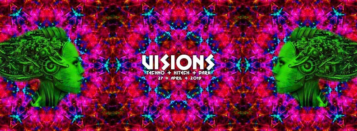 Party Flyer M-Bia Closing by Visions/ Techno & Hitech, Darkpsy |5€ bis 0 Uhr 27 Apr '19, 23:00