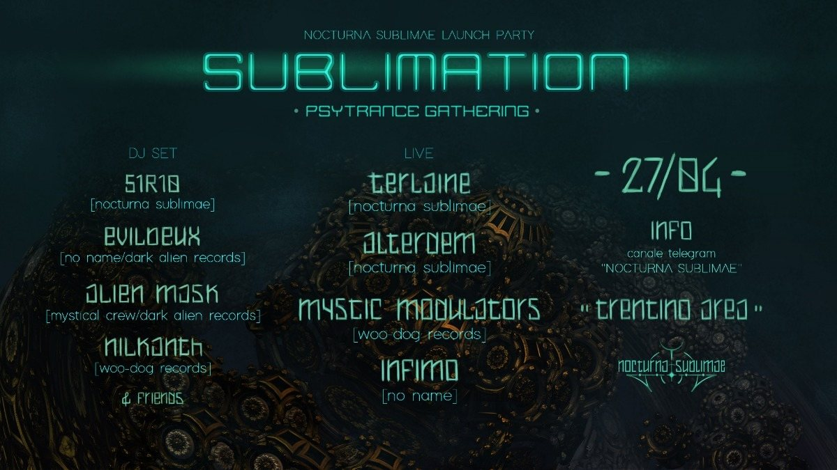 Party Flyer SUBLIMATION - Nocturna Sublimae Launch (Free)Party 1 Jun '19, 22:00