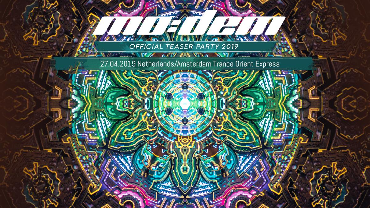 Party Flyer Trance Orient Express hosts MoDem Festival teaser 27 Apr '19, 22:00