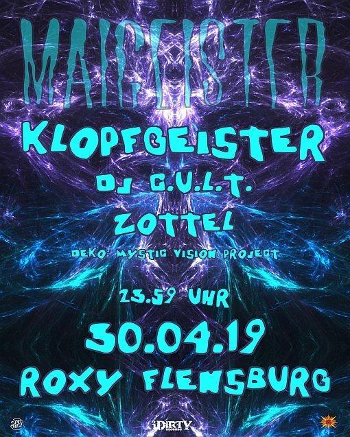 Party Flyer Maigeister mit Klopfgeister, DJ Cult und Zottel 30 Apr '19, 23:30
