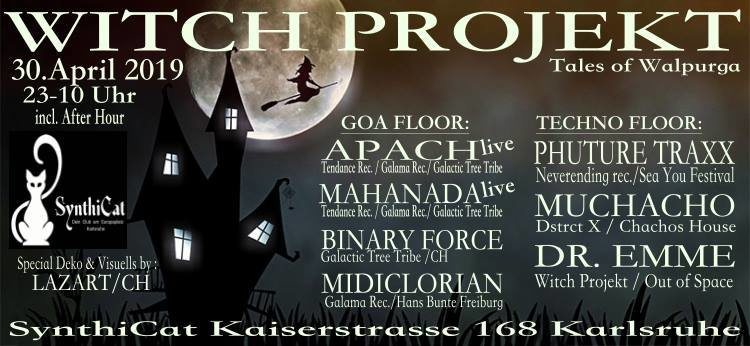 Party Flyer Witch Projekt - Tales of Walpurga 30 Apr '19, 22:00