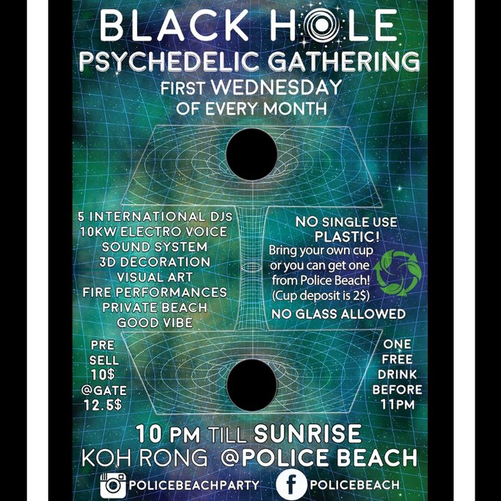 Party Flyer Black Hole Psychedelic Gathering 1 May '19, 22:00