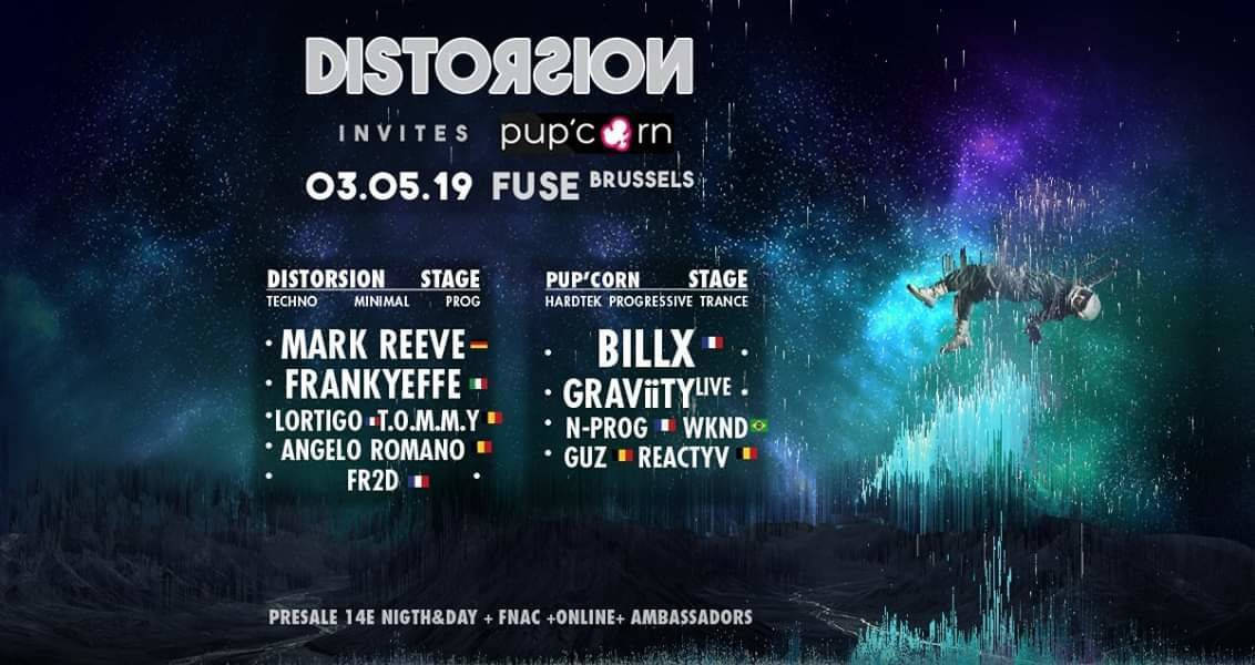 Party Flyer Distorsion invite Pup'corn 3 May '19, 23:00