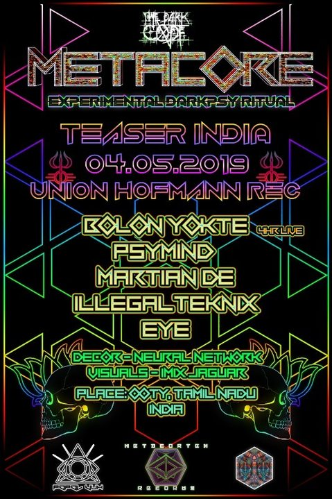 Party Flyer METACORE Festival Teaser INDIA by Union Hofmann Records 4 May '19, 19:00