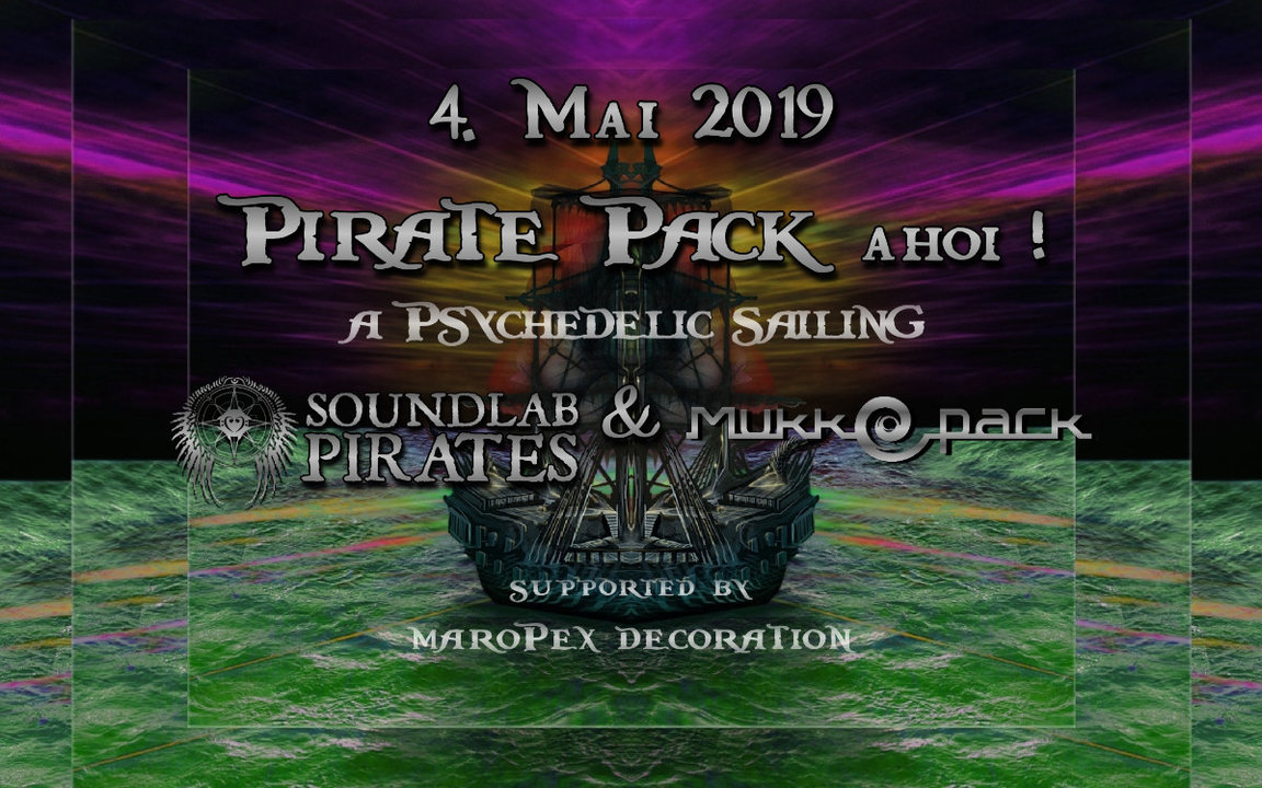 Party Flyer Pirate Pack Ahoi! 4 May '19, 21:00