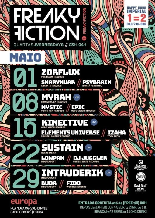 Party Flyer FREAKY FICTION 8 May '19, 23:00