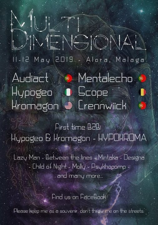 Party Flyer Multi Dimensional Festival 11 May '19, 22:00