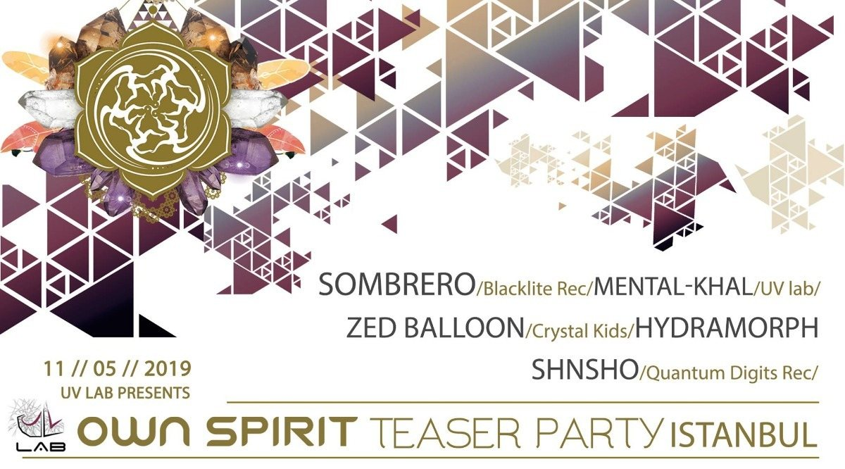 """Party Flyer Own Spirit Festival 2019 """" Istanbul Teaser Party"""" 11 May '19, 22:00"""