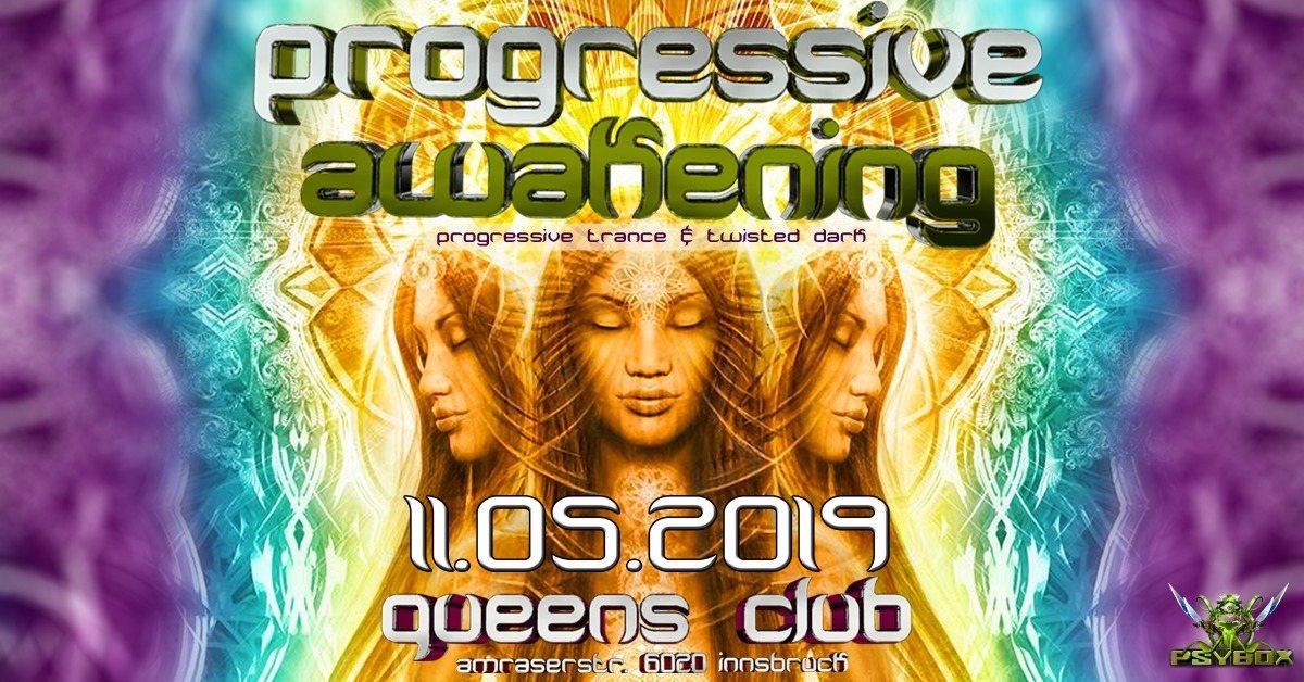 Party Flyer Psybox - Progressive Awakening - with RANJI - TERRA - BELIK BOOM *live 11 May '19, 22:00