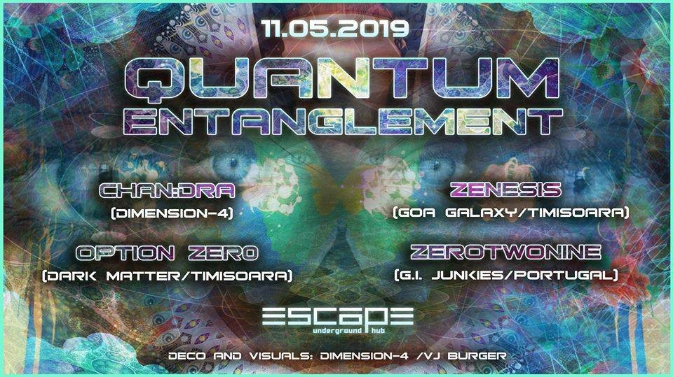 Party Flyer Quantum Entanglement 11 May '19, 23:30