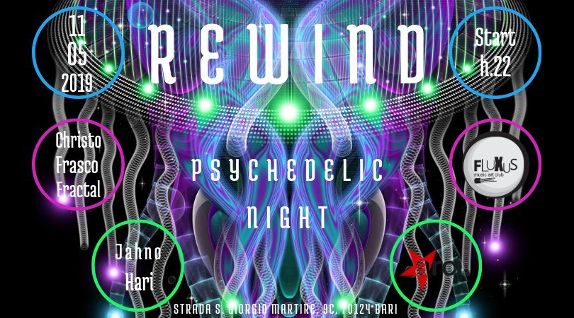 Party Flyer REWiND - Psy Party 11 May '19, 22:00