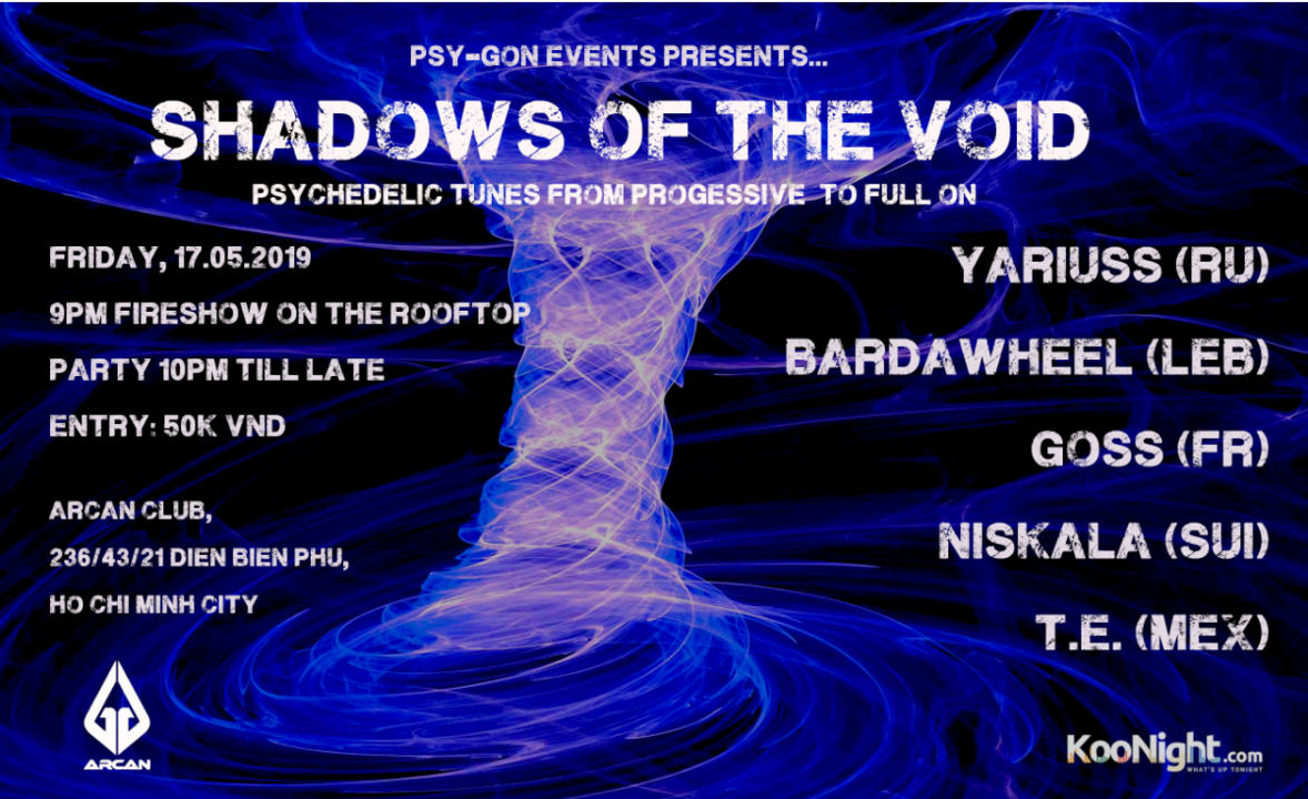Party Flyer Shadows of the Void (incl. Fireshow) 17 May '19, 21:00