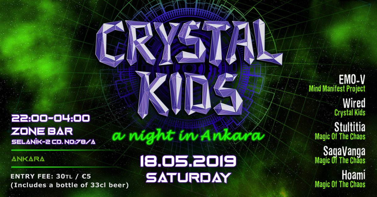 Party Flyer Crystal Kids Night Ankara 18 May '19, 22:00