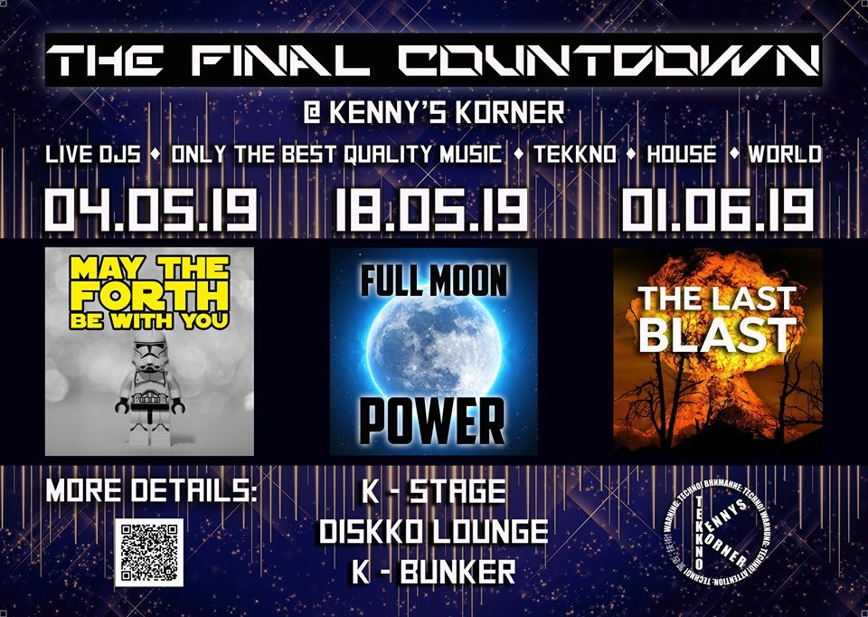 Party Flyer Full Moon Power 18 May '19, 09:00
