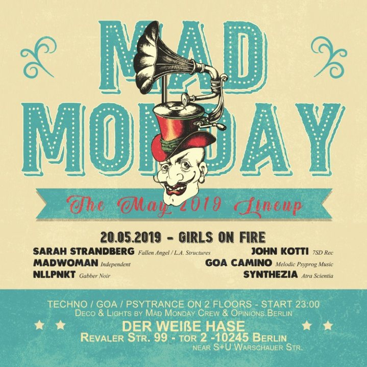 Party Flyer Mad Monday • presents Girls on Fire 20 May '19, 23:00