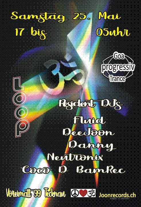 Party Flyer Proggi Goa Trance 25 May '19, 17:00