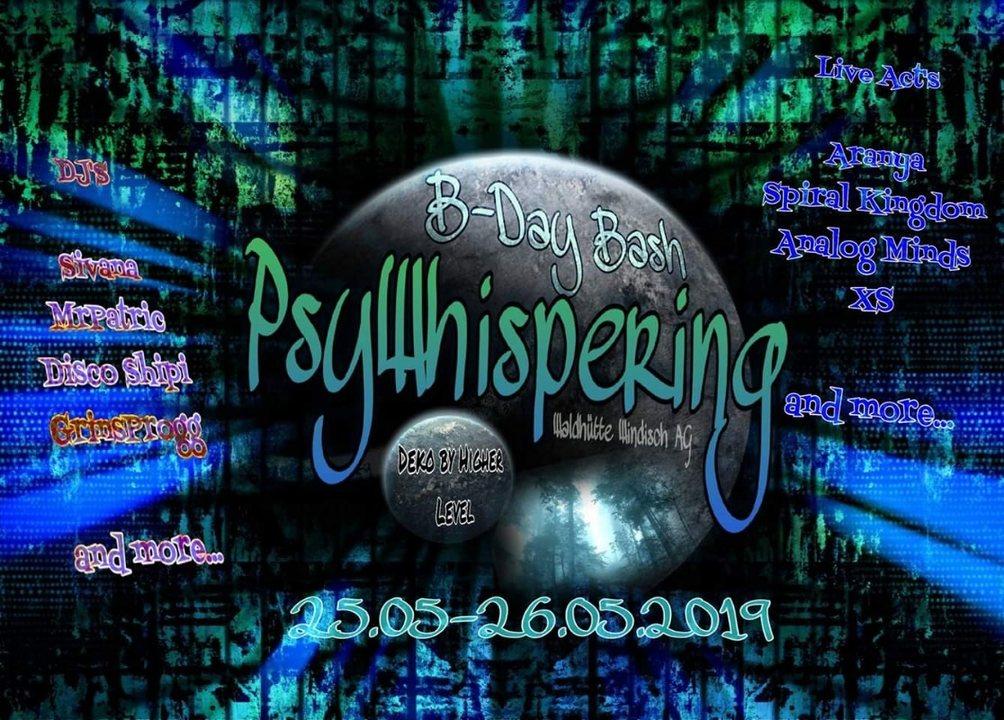 Party Flyer PsyWhisperings B-Day Bash 25 May '19, 12:00