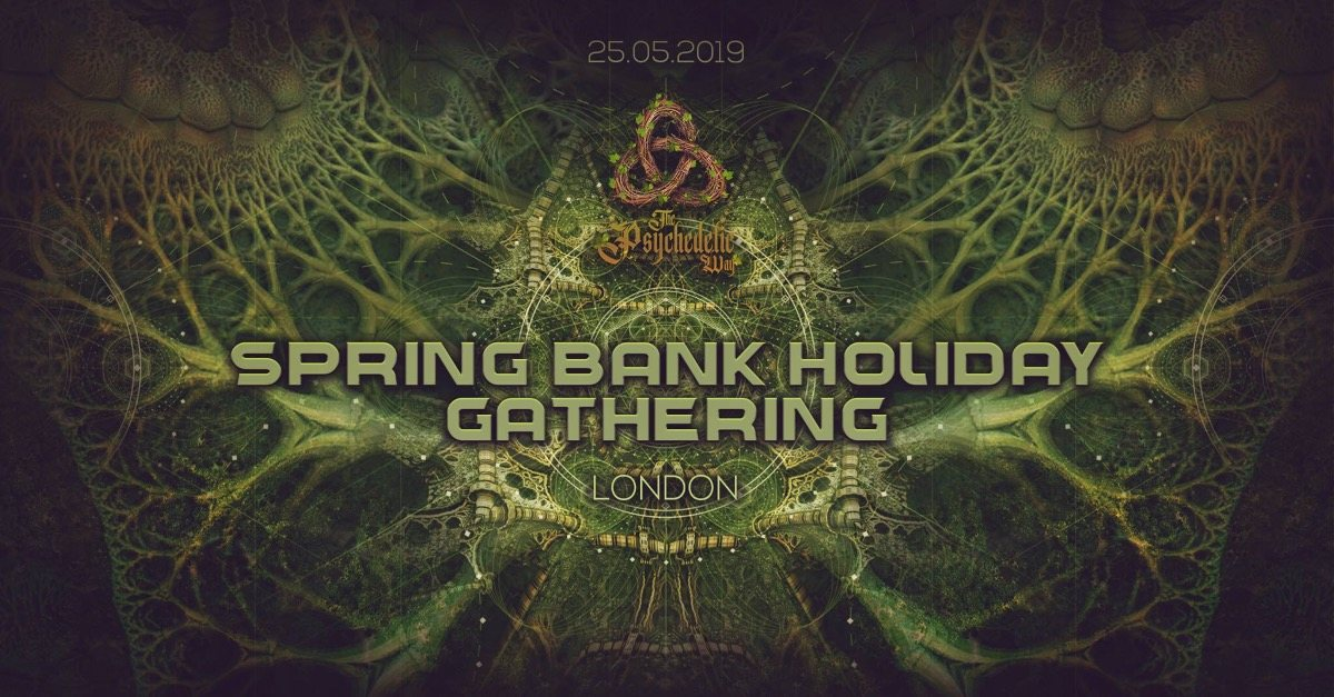 Party Flyer The Psychedelic Way Bank Holiday Gathering 25 May '19, 22:00
