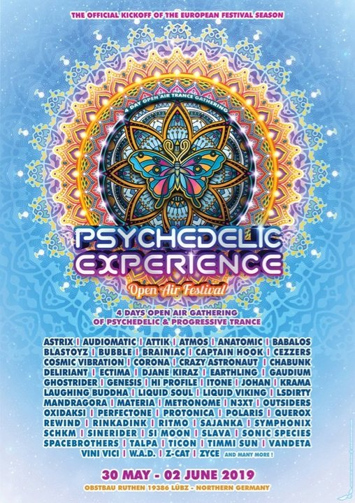 Party Flyer Psychedelic Experience Open Air Festival 2019 30 May '19, 14:00