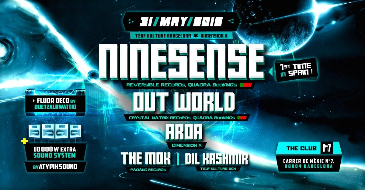 Party Flyer NINESENSE 1st time in Barcelona!!! 31 May '19, 23:30