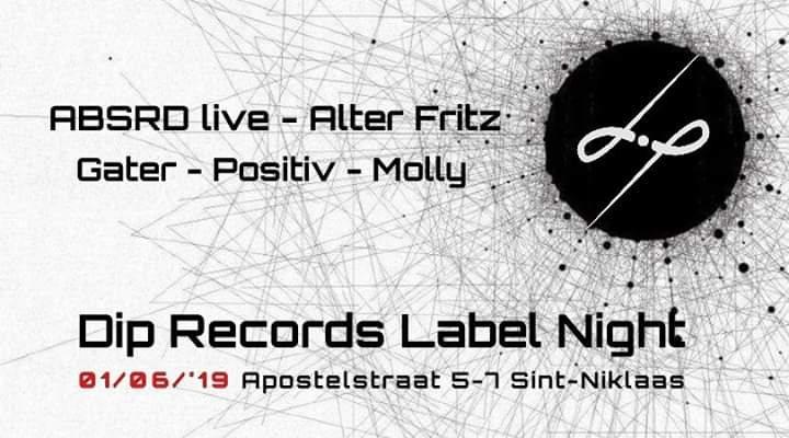 Party Flyer Dip Records // Label Night 1 Jun '19, 22:00