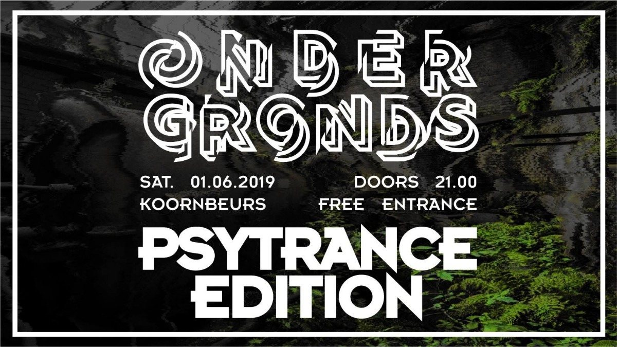 Party Flyer Ondergronds: Psytrance 1 Jun '19, 22:00