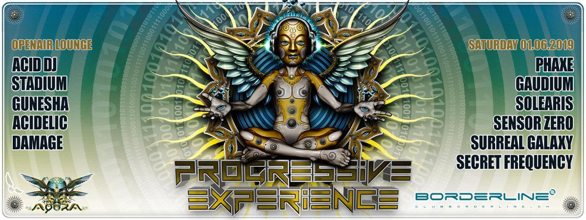 Party Flyer Progressive Experience with Phaxe & Gaudium 1 Jun '19, 23:00