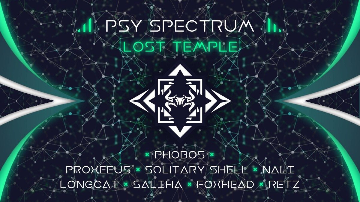 Party Flyer ◆ Psy Spectrum : Lost Temple ◆ 1 Jun '19, 20:00